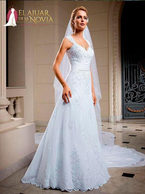 Vestido de novia Corte A  Alquiler Nuevo