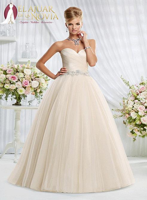 Vestido de novia Corte Princesa Alquiler Nuevo