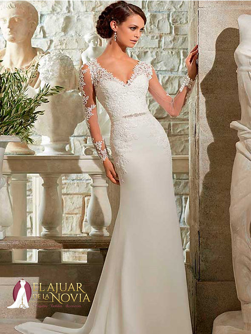 Vestido de novia Corte Tubo Alquiler Nuevo