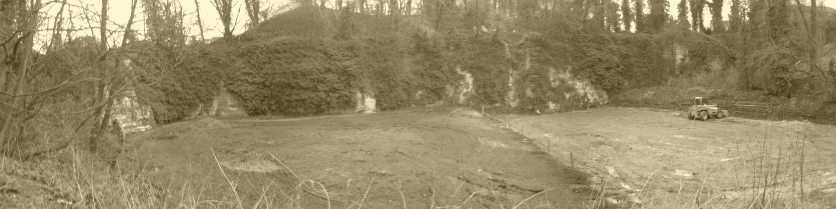 Replacing the very badly damaged surface which had been terribly contaminated with soil, droppings and hay over years.