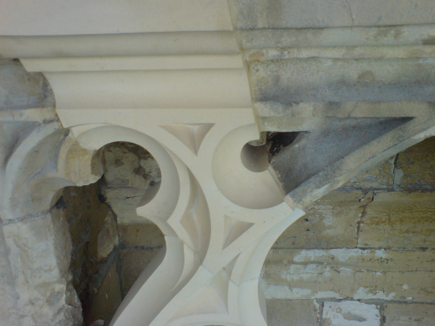 Restoration works being carried out on Huddleston Stone at the Minster