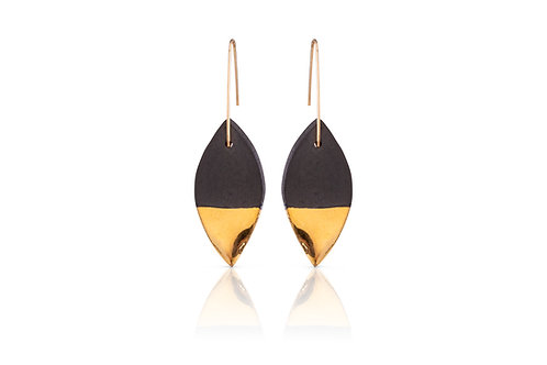 Cybele | Leaf Black & Gold