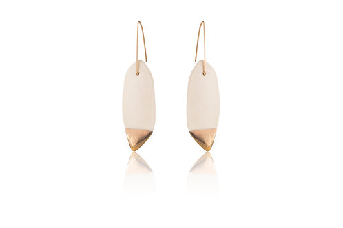 Cybele | Oval White & Gold