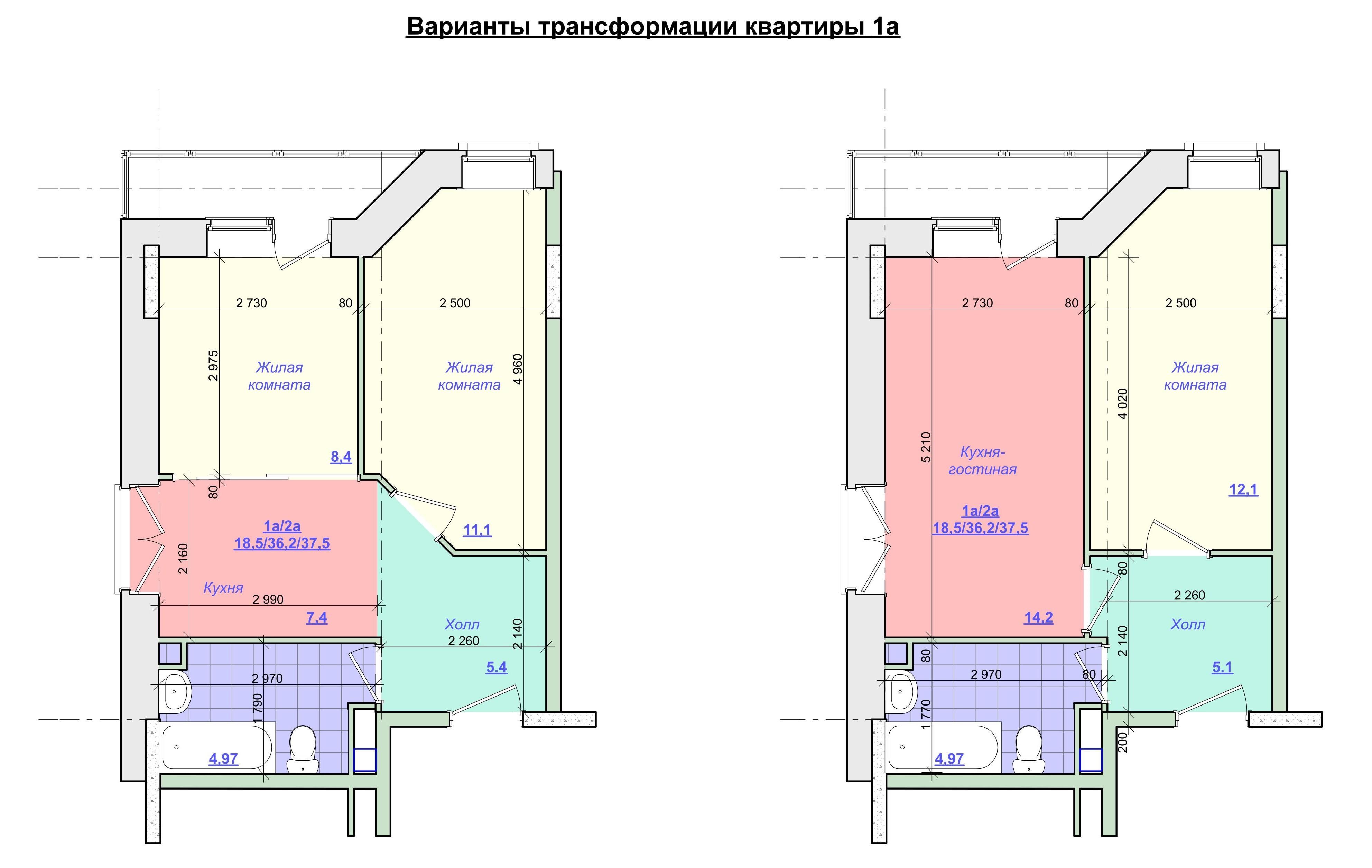 Варианты трансформации квартир
