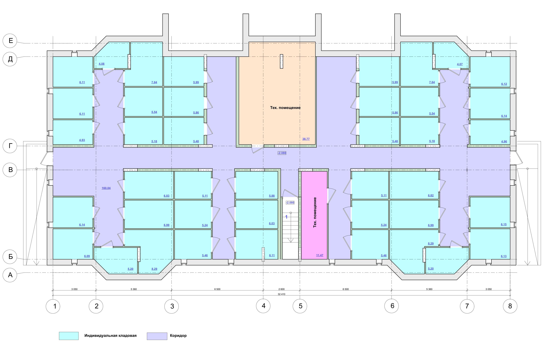План подвального этажа этажа