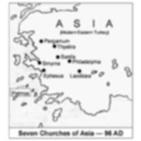 The Seven Churches in Asia in 96 CE