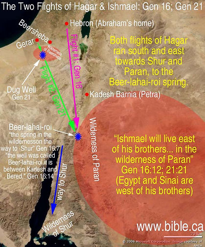 The Two Flights of Hagar and Ishmael