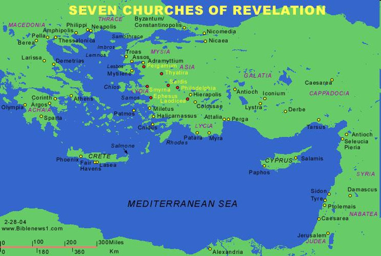 The Seven Churches in the book of Revelation