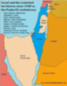 Israel and thecontested territories since 1948