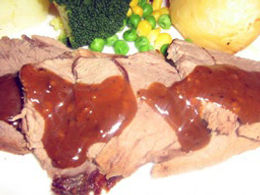Sliced Roasted Lamb with sauce