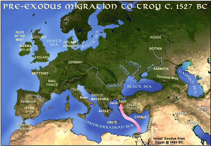 Pre-Exodus Migation to Troy c. 1527 BC