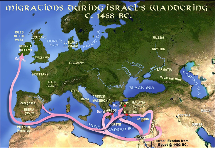 Migrations During Israel's Wandering c. 1468 BC