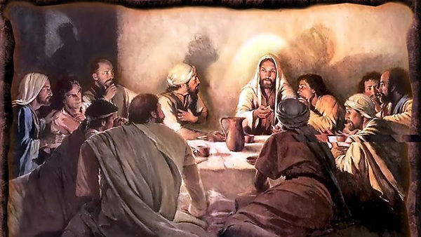 Yeshua/Jesus havig His last Passover with His Disciples