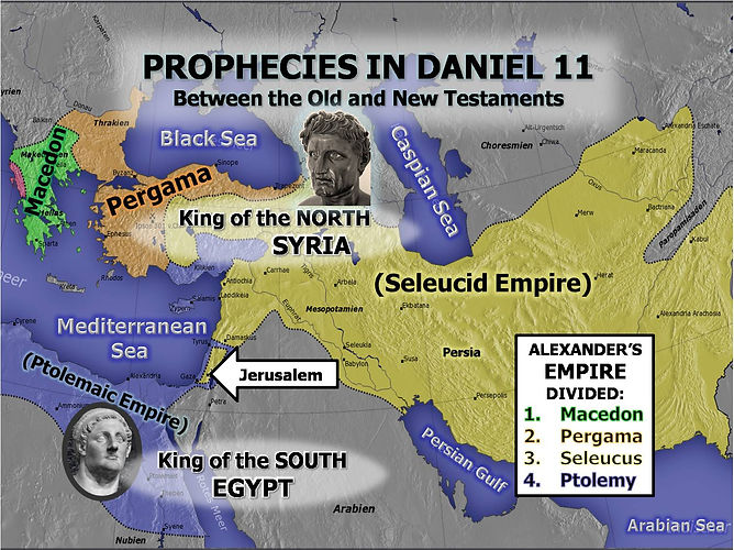 Prophecies in Daniel 11 between the Old and New Testaments