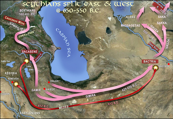 Scythians Split East and West at 650 BC to 550 BC