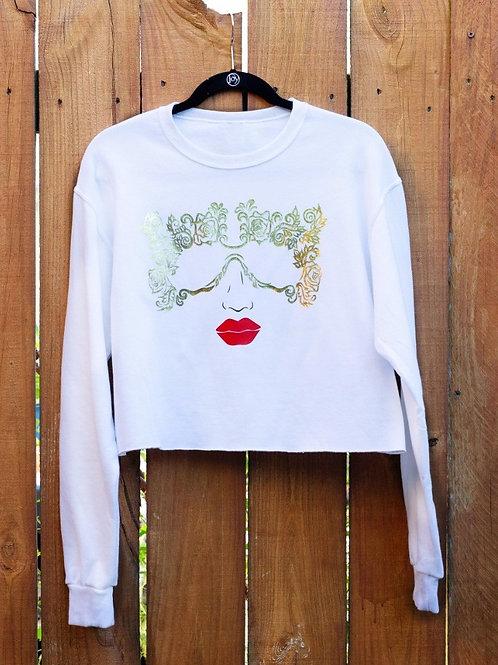 White Baroque Gold Sweatshirt