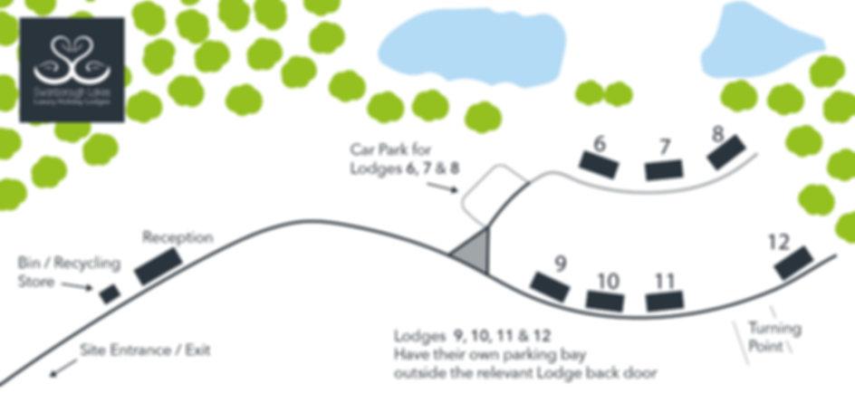 Swanborough Lakes Site Layout with logo.