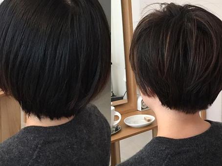 Neue Style mit Haarfarbe