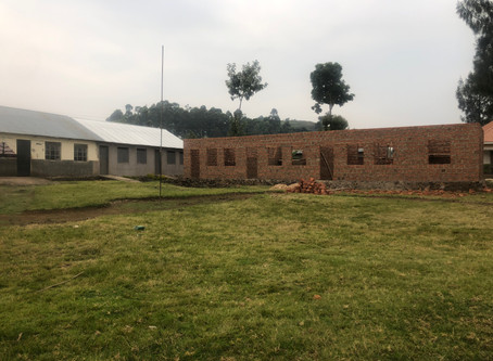 New classrooms and school office at Rutare!