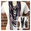 Thumbnail: Navy, Lavender & Heather Multi Strand Scarf necklace