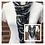 Thumbnail: Navy Print & Grey Multi Strand Scarf necklac