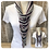 Thumbnail: Lavender, Heather & Pale Grey Multi Strand Scarf necklace