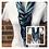 Thumbnail: Navy, Teal & Aqua Multi Strand Scarf necklace