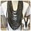 Thumbnail: Khaki Marl Multi Strand Scarf necklace
