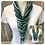 Thumbnail: Dark Teal & Mint Multi Strand Scarf necklace