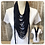 Thumbnail: Navy Multi Strand Scarf necklace
