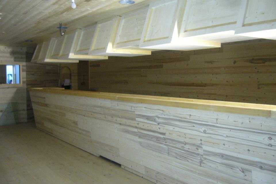 Comptoir sol et plafond