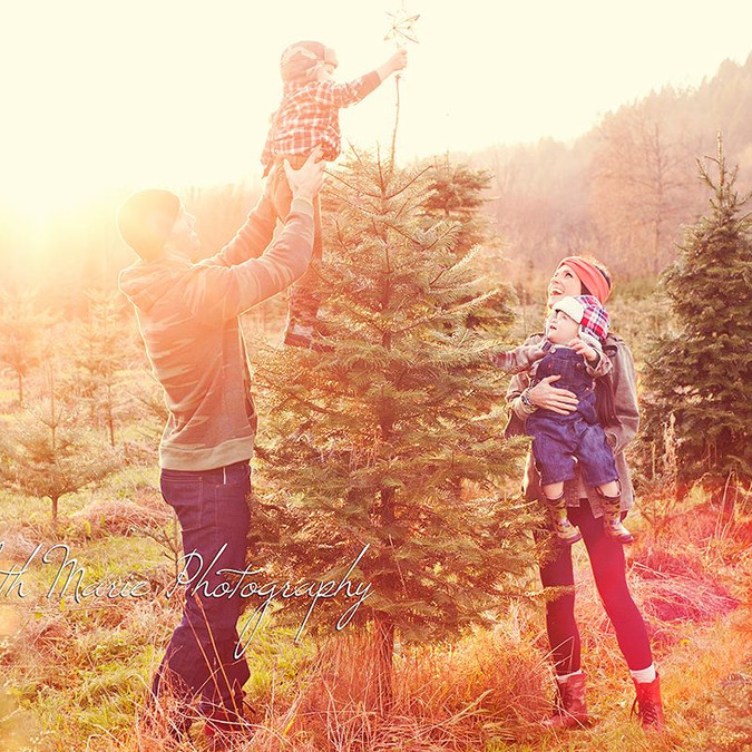 Family Session at the Tree Farm