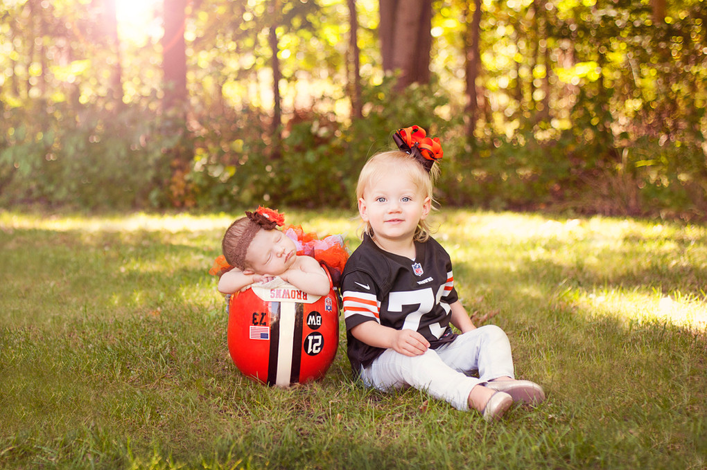 Newborn NFL Football Cleveland Browns Joe and Annie Thomas