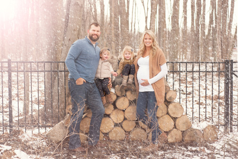 Joe and Annie Thomas Maternity Session with Children