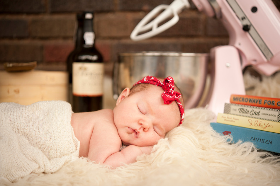 Newborn Daughter of A Chef!