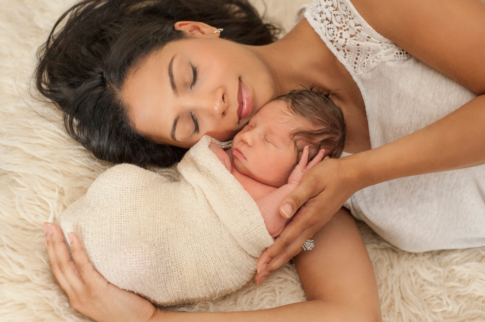 Mother and Son Newborn