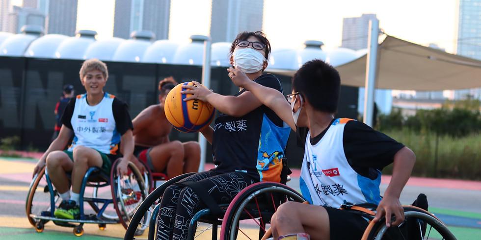9月5日 CENTERPOLE Wheelchair Basketball Class Water Survival Game WheelchairBasketball