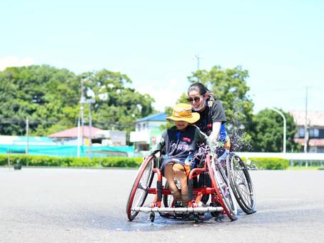 【クラス報告】 真夏の車椅子ソフトボール練習会