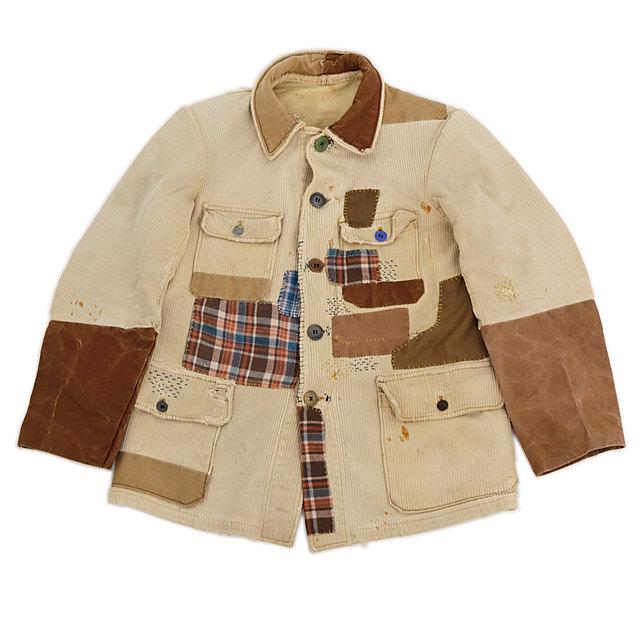 Patchwork hunting jacket