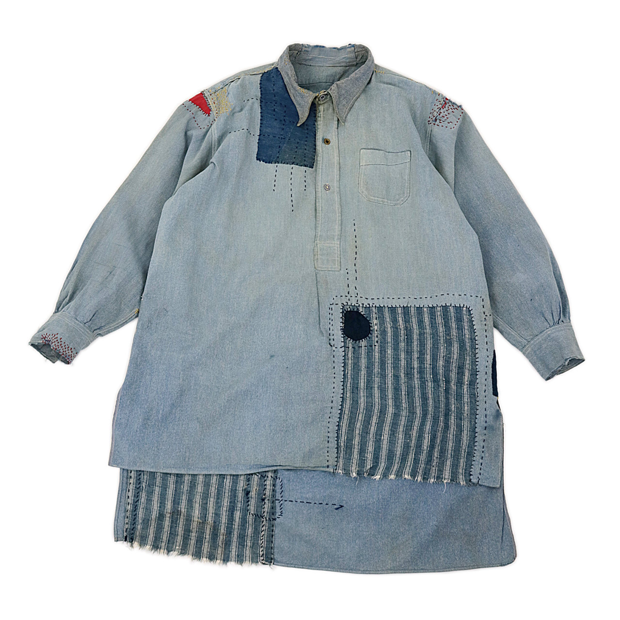 Patchwork long shirt