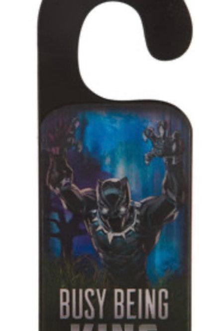 Black Panther Wood Door Hanger