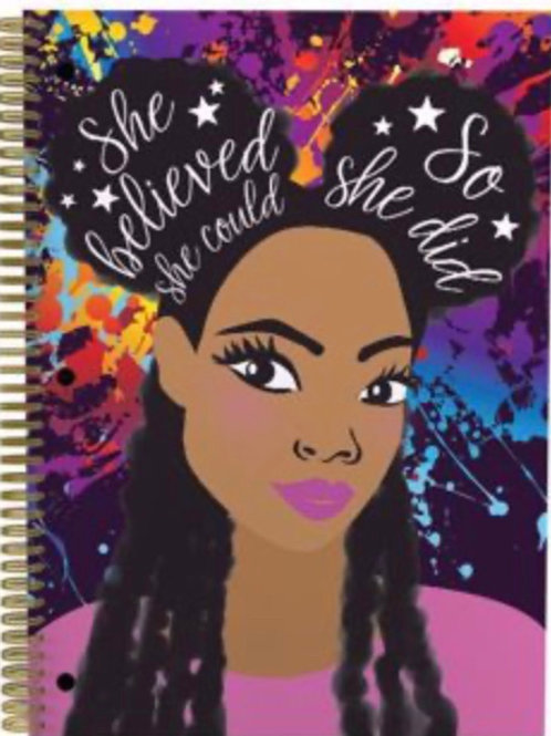 Self Love Large Notebook- She Believed