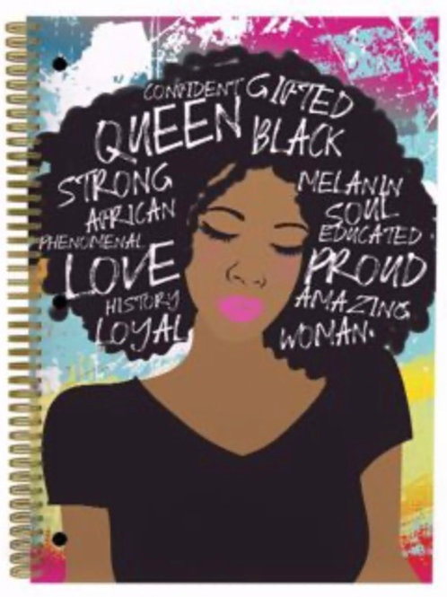 Self Love Large Notebook- Queen Gifted Black