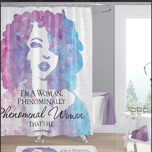 Maya Angelou Phenomenal Woman Shower Curtain