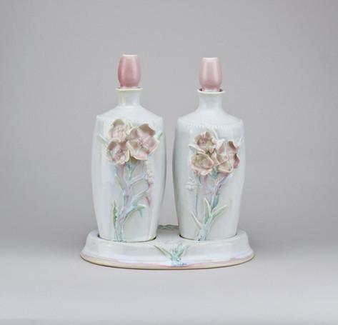 Beware: Decanter Set,  Porcelain, Cone 6, 2018