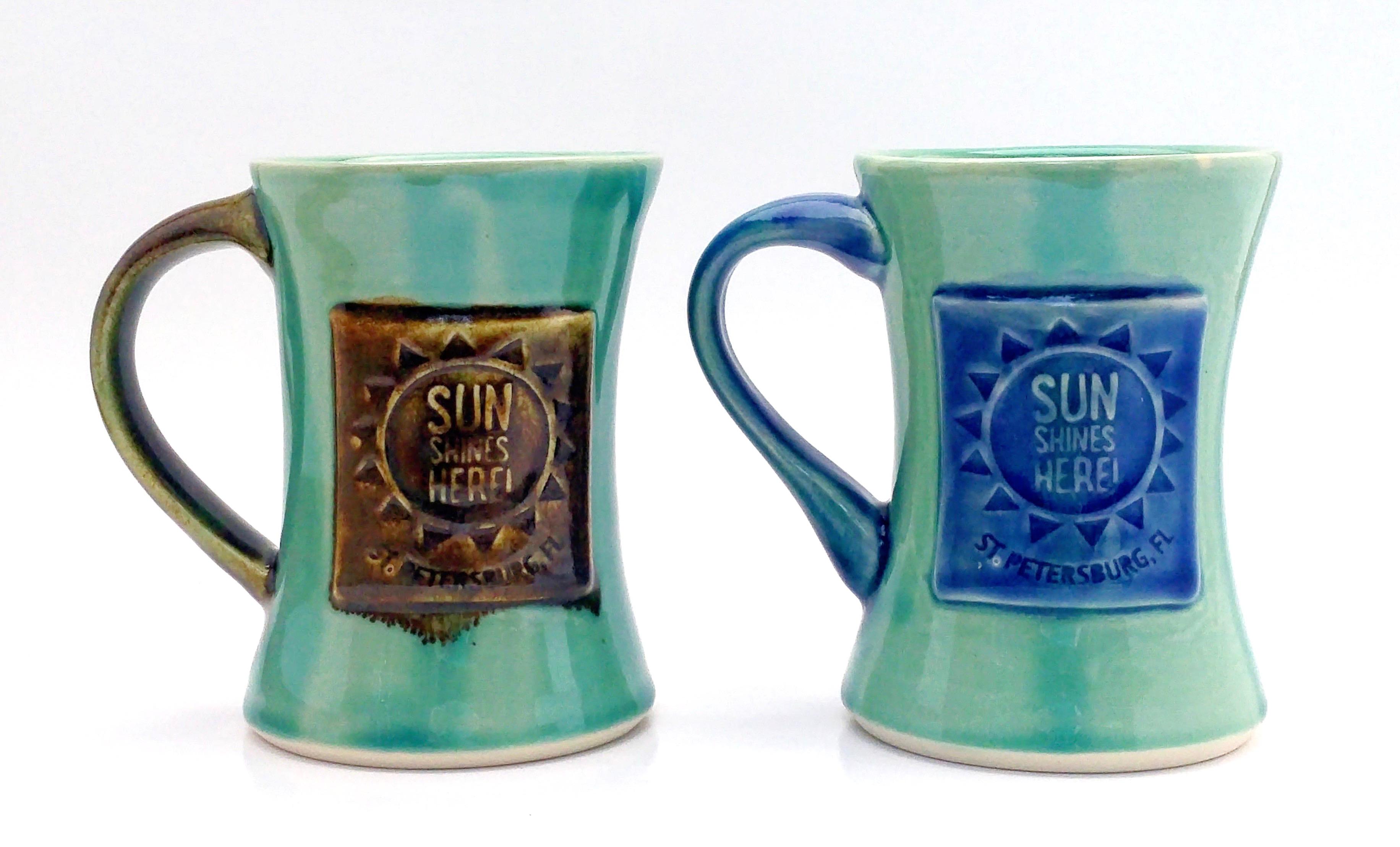 Sun Shines Here Mugs