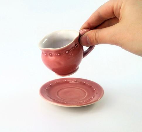 Espresso Cup & Saucer, Porcelain, Cone 6, 2018