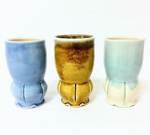 Tumblers, Porcelain, Cone 6, Wood-fired, 2017
