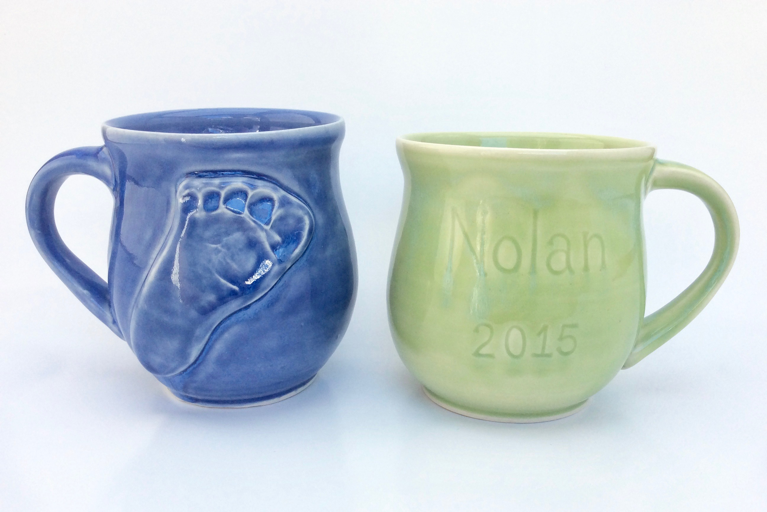 Baby Footprint Mugs (Commission)