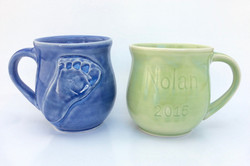 Baby Footprint Mugs (Commission)